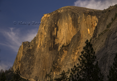 Half-Dome bathed in last light.