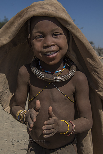 Himba girl sings with joy!